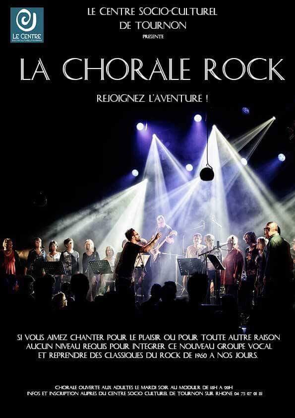Chorale Rock centre socioculturel tournon