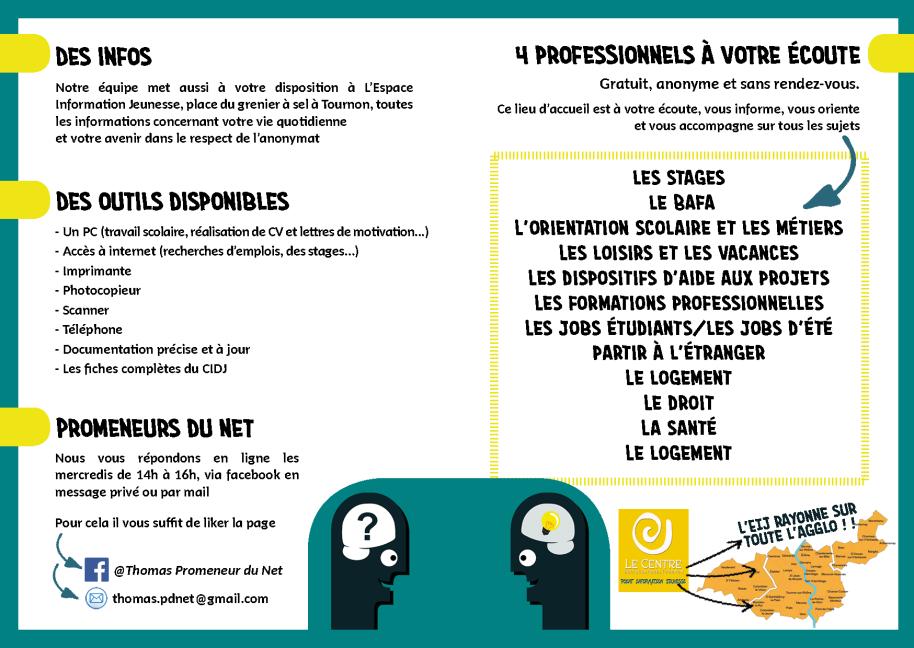 plaquette PIJ centre socioculturel Tournon