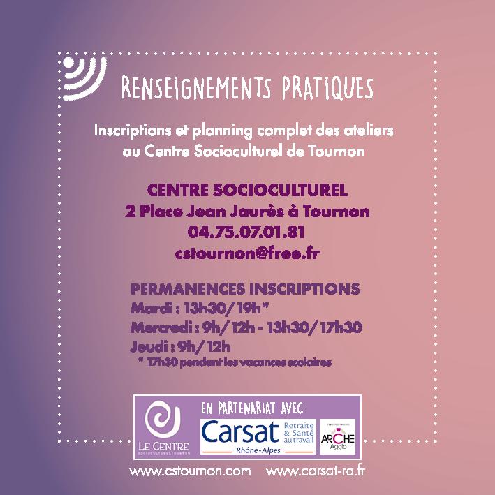 Atelier numérique CARSAT centre socioculturel Tournon