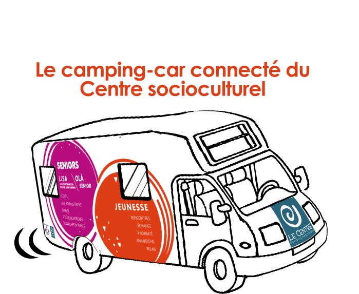 camping car connecté du centre socioculturel tournon LISA jeunesse seniors