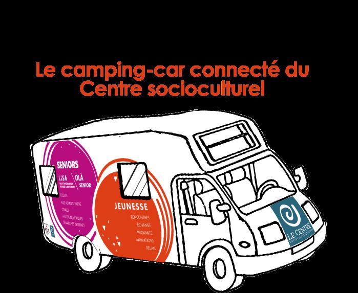 camping car connecté du centre socioculturel tournon LISA jeunesse seniors