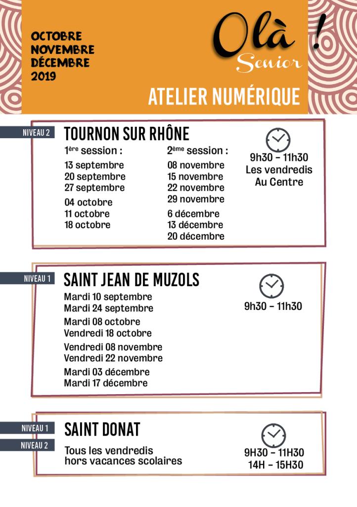 Programme olà centre socioculturel de Tournon sur rhone