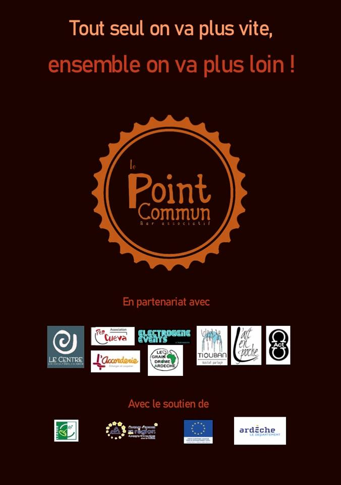 Le Point Commun programme centre socioculturel de Tournon sur rhone