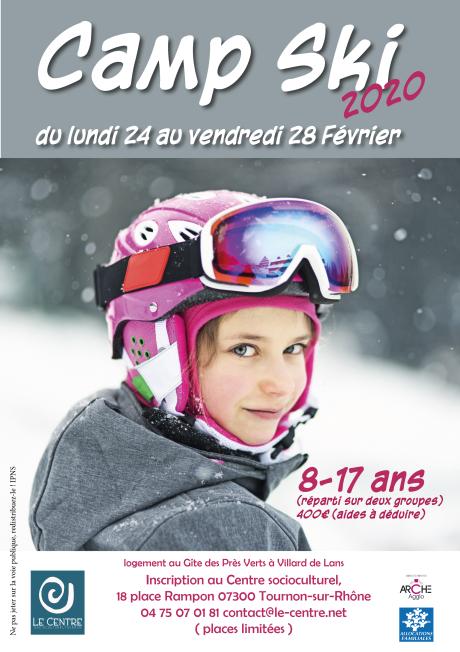 Centre socioculturel de tournon enfance camp ski