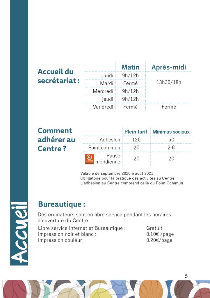 Centre socioculture de Tournon-su-rhone 2020-2021