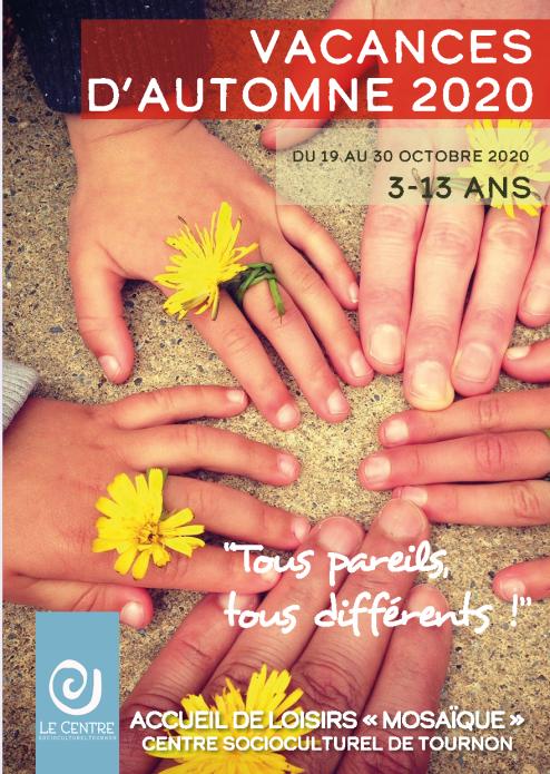 Vacances Automne Centre socioculturel de Tournon